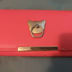 Faux Leather Red Wallet